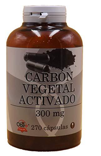 Carbon vegetal activado activo 300 mg Obire 270 capsulas mej