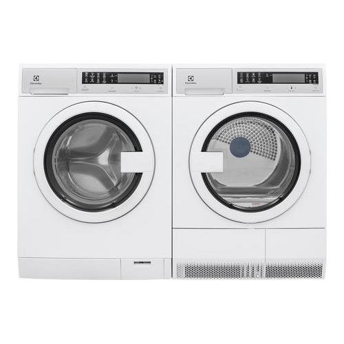 Front Load Compact EFLS210TIW 24' Washer with EFDE210TIW 24' Electric Dryer Laundry Pair in White