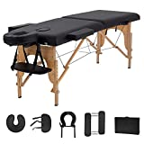 "Massage Table Massage Bed Spa Bed 73"" Long 2 Folding Portable Massage Table W/Carry Case Heigh Adjustable Salon Bed Face Cradle Bed"