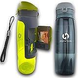 Gourde de Sport Running Camping Escalade Randonnée Fitness Crossfit sans BPA de 750ml Grise -...