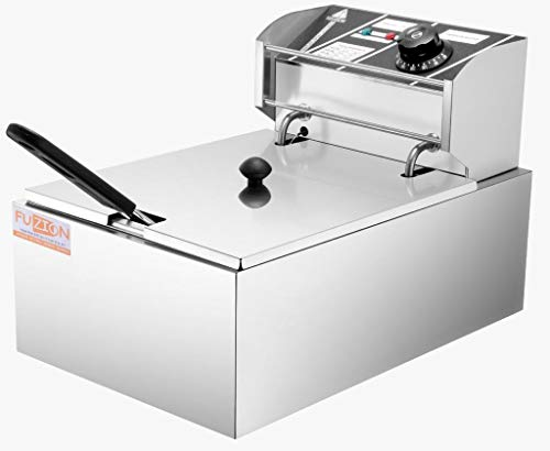 FUZION 6 Liters 2500W Commercial Single Electric Fryer, Silver