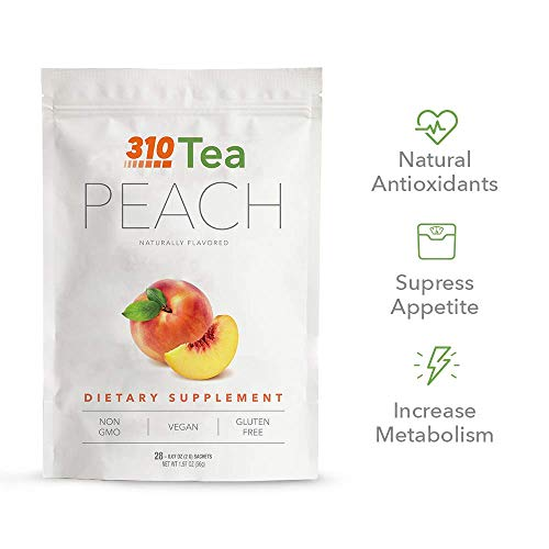 Peach Tea by 310 Nutrition - Supports Body's Natural Detox Process, Organic Green Tea with Yerba Mate, Guarana, Plus More Natural Ingredients, Comes with Free eBook (28 Servings) 4