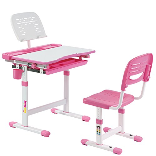 Alex Daisy Pluto Kids Height Adjustable Study Table & Chair Set (Standard, Pink)