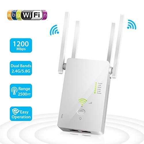 Ripetitore WiFi Wireless, 1200 Mbps Amplificatore...