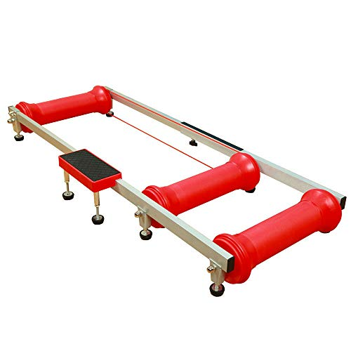 Gdrasuya10 Roller Bike Trainer, Indoor Cycling Stationary Roller Bicycle Parabolic Riding Table Max.150KG (Red)