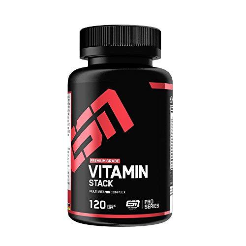 ESN Vitamin Stack – 120 Kapseln – Hochwertiger Multivitamin Komplex – Optimale Dosierung - 120 Portionen – Made in Germany