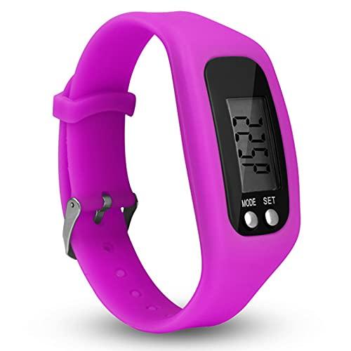 Orologio con contapassi con display LCD, funzionamento semplice, da camminare, fitness tracker da polso, contatore digitale