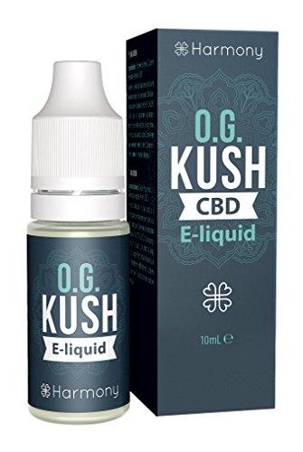 Harmony E-líquido de CBD (más de 99% pureza) - Terpenos de OG Kush - 100 mg CBD en 10 ml - Sin Nicotina
