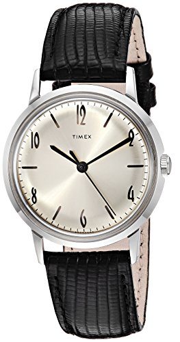 Timex Marlin Stainless Steel Hand-Wound Movement Black/Silver One Size