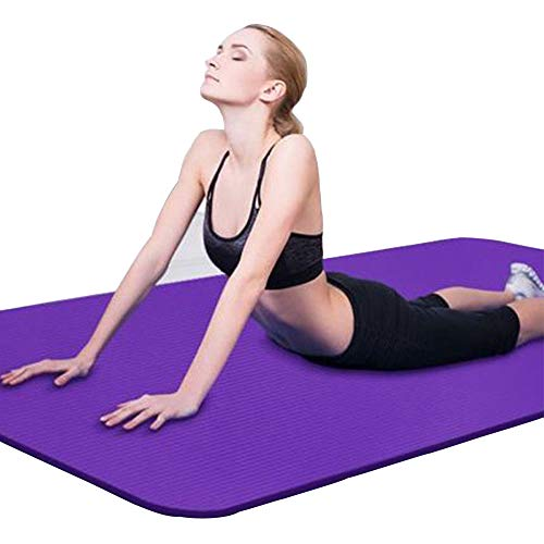Binwwe Mat Yoga Mat Exercise non Slip Thick for in-Home Workout Gym Fitness Sports Pad Exercise (Purple, 173cmX60cmX0.6cm)