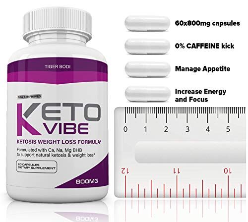 (2 Pack) Keto Vibe Pills for Weight Loss Formula, Keto Vibe Supplements Melt Fat Fast 800mg, Keto Viber for Women Men Capsules BHB, Complete Ketogenic Diet, BHB Ketones Slim Pills for Energy, Focus 2