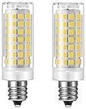 Led Ceiling Fan Light Bulbs E12 Candelabra Base 60 Watt Equivalent Chandelier Light Bulbs Dimmable Clear (Daylight White 6000K)Pack of 2
