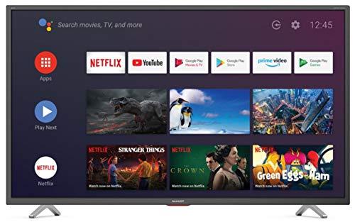 Sharp Aquos 4T-C50BL6EF2AB - 50' Smart TV 4K Ultra HD Android 9.0, Wi-Fi, DVB-T2/S2, 3840 x 2160...