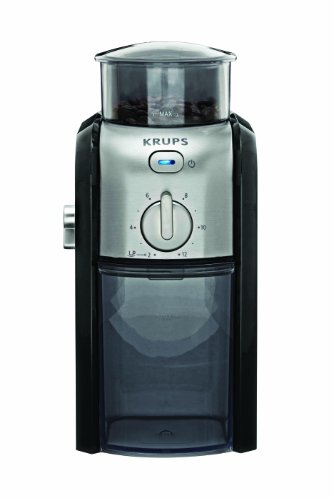 KRUPS GVX212 Coffee Grinder, 1, Black and Metal