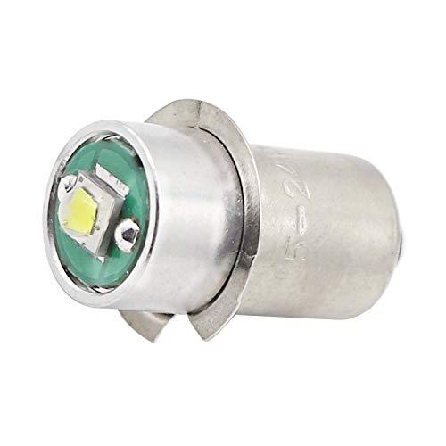 High Power LED Upgrade Bulb 3W 220LM DC5-24V 12V 18Volt PR2 P13.5S LED Flashlight Bulbs Replacement for DEWALT Flashlight Torch Tooling Lantern Work Light Maglite LED Conversion Kit