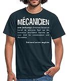 Spreadshirt Définition du Terme Mécanicien T-Shirt Homme, 3XL, Marine