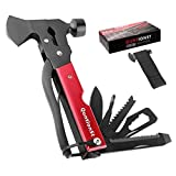 Camping Gear Multitool, Cool & Unique Birthday Gifts for Men Dad Husband Boyfriend, 16-in-1 Survival Gear for Outdoor Hunting Hiking, Emergency Escape Tool with Axe,Hammer,Plier,Knife,Bottle Opener