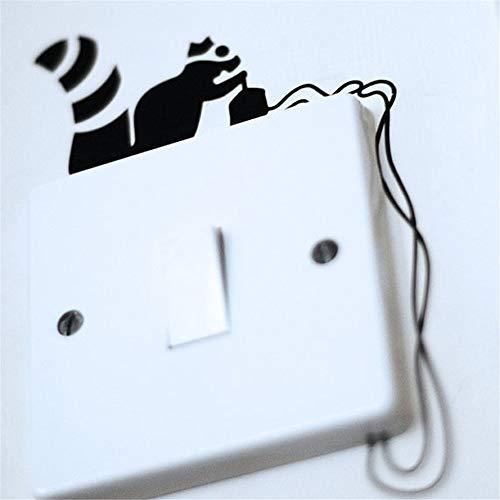Robo de electricidad Ardilla Arte Interruptor Pegatina Sala de estar Dormitorio etiqueta de la pared etiqueta de la pared decoración