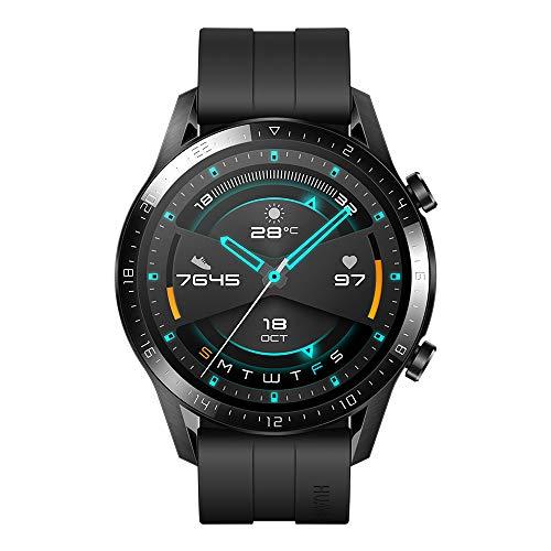 Huawei GT 2 Sport Bluetooth Watch- Matte Black (2 Weeks Battery Life_Wireless_5ATM)