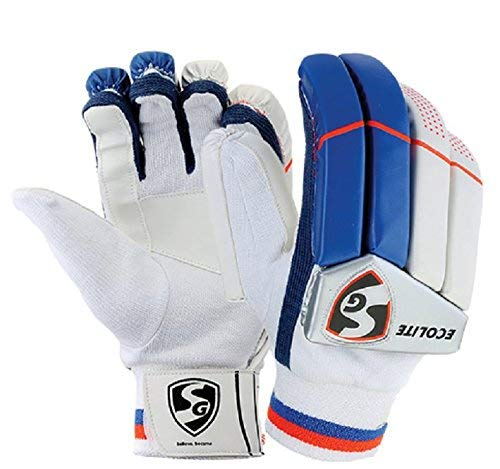 SG ecolite Adult cricket batting gloves (colour may vary)