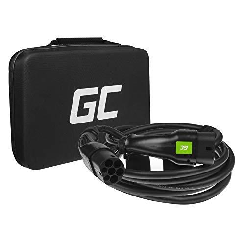Green Cell® GCCable de Carga EV, 11kW, 16A,Trifásico, Tipo 2 a Tipo 2, 7 Metros