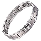 38 Titanium Magnetic Bracelet Fashion Health Bracelets (Sliver, 8.5(inch))
