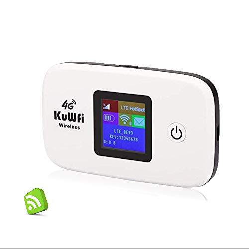 Router 4G con sim portatile, KuWFi Router 4G LTE...