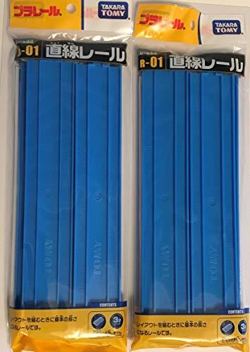 プラレール 直線レール(1袋4本入) R-01 【 2袋セット 】