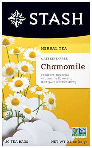 Stash Tea Chamomile Caffeine Free Herbal Tea, 20 Sobres