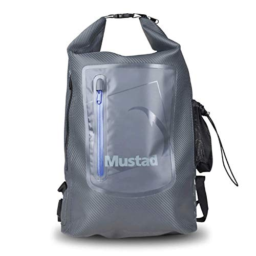 Mustad Dry Backpack 30L, Water-resistant 500-Denier Tarpaulin, Easy-Adjust Shoulder Straps...