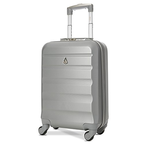 Trolley Aerolite ABS - bagaglio a mano 55x35x20 cm - Valigia rigida con 4 ruote. Ideale a bordo di...