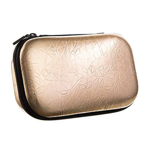 Zipit - Astuccio metallico con cerniera, 21 cm, colore: Oro