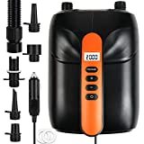 New 20PSI SUP Electric High Air Pump, 12V Smart high Pressure Pump with Intelligent Dual Stage & Auto-Off Function for Air Mattresses, Inflatables Boats , Tent,Stand Up Paddle Boards