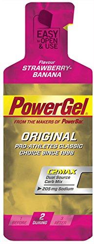 Gel Energético Power Gel PowerBar 12 Geles x 41g Fresa y Plátano