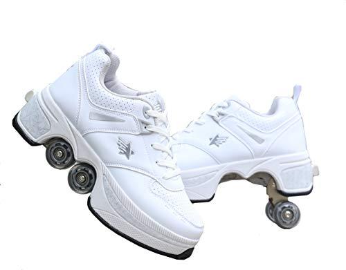 Deformation Parkour Roller Shoes 4-Wheels Parkour Children's Park Walking Roller Skates