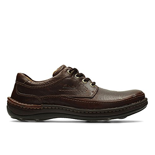 Clarks Herren Nature Three Derby, Braun (Mahogany Leather), 42 EU