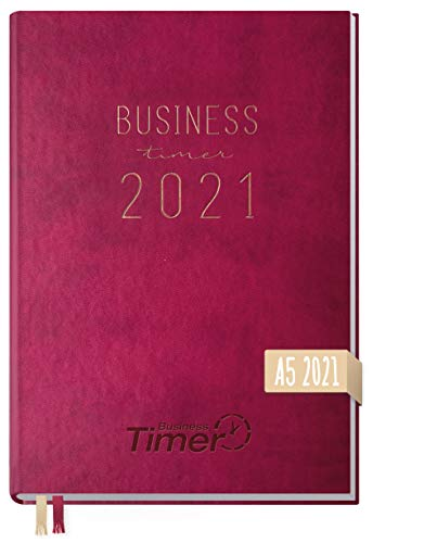 Chäff Business-Timer 2021 A5 berry | Wochenplaner, Wochenkalender, Organizer, Terminkalender für perfektes Zeitmanagement | nachhaltig & klimaneutral