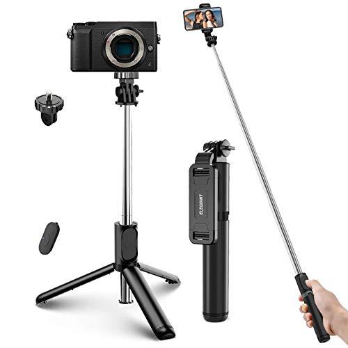 ELEGIANT Perche Selfie Bluetooth, Selfie Stick Extensible Tout en 1 avec...