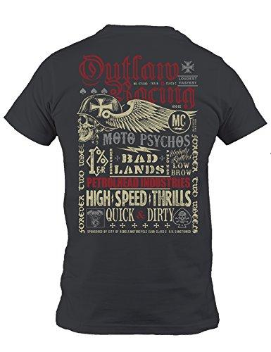 Petrolhead: Outlaw Racing - Camiseta Motor - Regalo Hombre - T-Shirt Racing - Camisetas Coches - Tuning - Moto - Coche - Car - Cafe Racer - Biker - Rally - JDM - Unisex (XL)