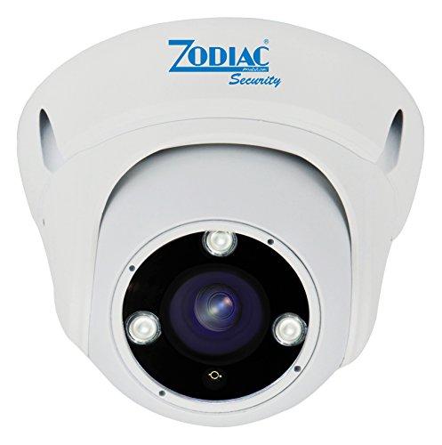 Zodiac HDA-CD3N Telecamera Dome Ahd, Ottica 2.8-12Mm Varifocal, Bianco, 4 mpx