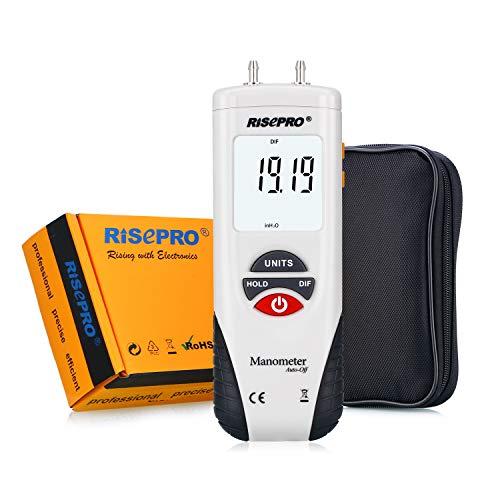 Manometer, RISEPRO Digital Air Pressure Meter and...
