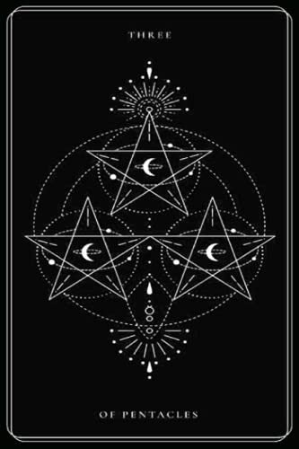Three of Pentacles: Black and White Tarot Card, Tarot Card...