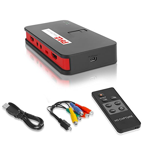Pyle Video Game Capture Card - AV Recorder Converter, HDMI Support, Full HD 1080P Digital Media File Creation System with Audio For USB, SD, PC, DVD, PS4, PS3, XBox One, XBox 360 and Wii(PVRC52),Black