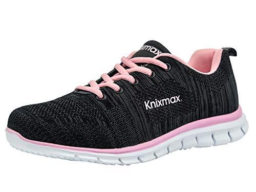 Knixmax-Zapatillas Deportivas para Mujer, Zapatillas de Running Fitness Sneakers Zapatos de Correr Aire Libre Deportes Casual Zapatillas Ligeras para Correr Transpirable