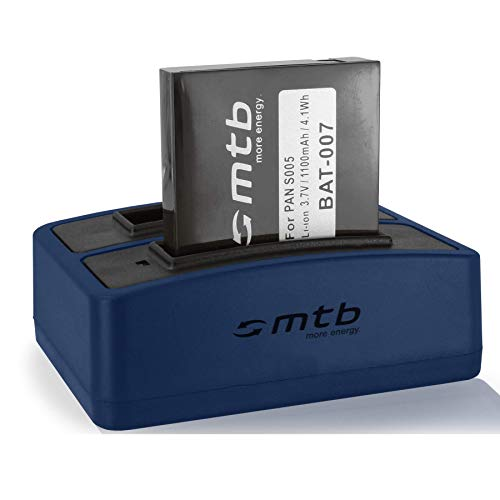 Batteria + Caricabatteria doppio (USB) S005, DB-060 per Panasonic Lumix DMC-FX01, FX10, FX100, FX150, LX3 / Ricoh GR Digital I, II … - vedi lista di compatibilità
