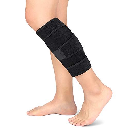 Calf Brace Regolabile Shin Splint Support Sleeve Leg Compressione Wrap per Pulled Vitello Muscle Pain Strain Injury, Gonfiore, Adatto a Uomini e Donne, Nero