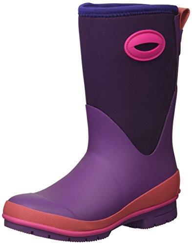 Western Chief Kid's Cold Rated Neoprene Memory Foam Snow Boot, Purple, 4 M US Big Kid