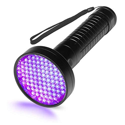 Escolite UV Flashlight Black Light, 100 LED 395 nM Ultraviolet Flashlights UV blacklight Detector for Dog Urine, Pet Stains and Bed Bug, Matching with Pet Odor Eliminator