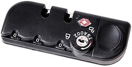 Maletín con cerradura TSA maletas requiere Sistema de recambio para castillo Set para estuche rígido de viaje extraíble