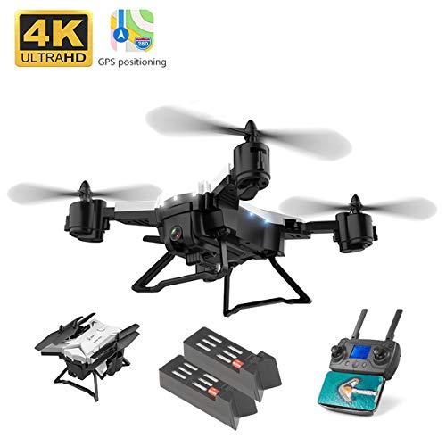 APJS KY601G GPS Drone Quadricottero 4K Telecamera Droni Quadcopter Portatile, 16MP, Distanza 1.8 Km, 5G WiFi Videocamera in Diretta FPV App Mobile Controllo Grandangolare Selfie, Bianc